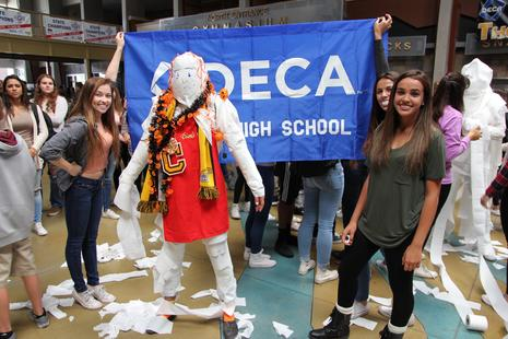 DECA Mummy Contest for Halloween